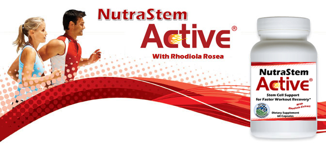 NutraStem Active Strength and Stem Cell Support with Rhodiola Nutitional Supplement